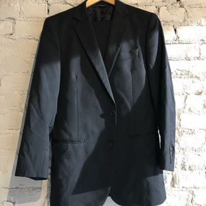 Brooks Brothers Custom Made Two Piece Suit Black